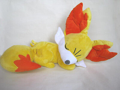 "Pokemon Center Large 24""Fennekin Fokko 2015 Sleeping Plush Doll Japan Used"