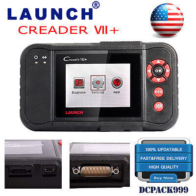 Genuine Launch X431 Creader VII+ 7+ Auto Scanner CAN Code Reader Diagnostic Tool