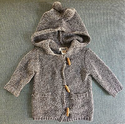 **Cotton On Baby Knit Jumper / Duffel Jacket. Pom Poms. 6-12mo**