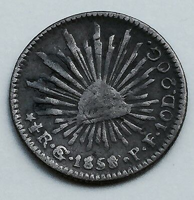 MEXICO: 1858/7 Go PF 1/2 Real Silver