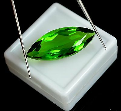 29.10 Ct Ebay Certified Marquise Cut Green Topaz Loose Gemstone-INDEPENDENCE DAY