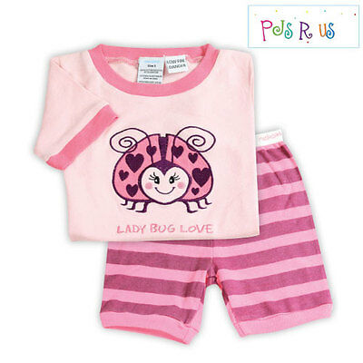 Adorable New Girls Size 2 Neka Kids Two Piece Cotton Summer PJ Set