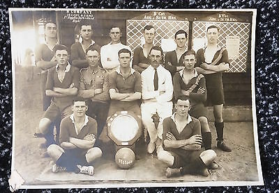 military photo Argyll and Sutherland Highlanders soccer football team real photo