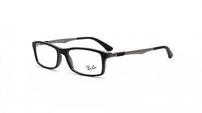 BRAND NEW RAYBAN RX RB7017 BLACK AUTHENTIC EYEGLASSES FRAME 54-17 mm WITH CASE