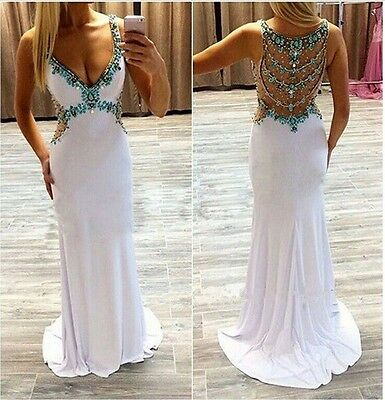 New Long Bridesmaid Dresses Wedding Formal Party Prom Dress Evening Ball Gown