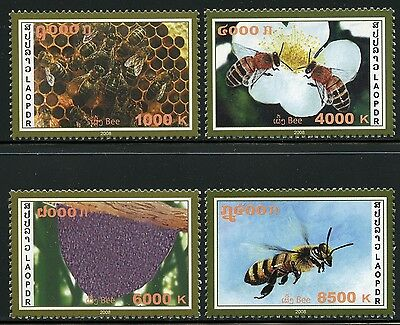Laos Lao 2008 Hongbienen Honey Bees Insekten Insects 2076-79 Postfrisch MNH