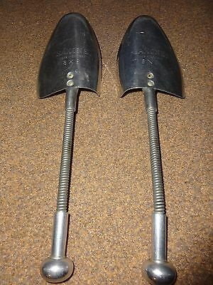 VINTAGE 1980's METAL MENS BOOT/SHOE SHAPERS/STRETCHERS FROM SAXONE 8X9 - RARE!!