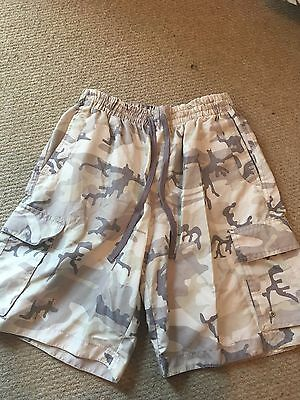 mens camouflage swimming shorts - matalan - small