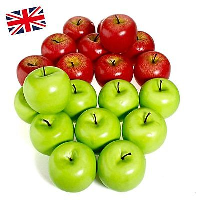 1~10PCS Large Artificial Fake Red Green Apple Fruits Kitchen Home Decorative DIY