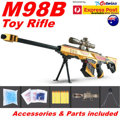 Costume Toy Barrett M98B Sniper Rifle Gun Shoot Water Gell Bullet Nerf Form Dart