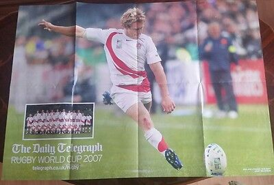 """JONNY WILKINSON RUGBY WORLD CUP 2007  POSTER (33"""" x 23"""")"""