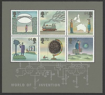 GB 2007 MS2727 World of Invention 2nd issue Gummed Mini Sheet MNH