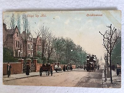 Printed colour photo postcard, Shoot Up Hill, Cricklewood, London, c.1900s