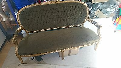 Antique French Louis 3 Seater Couch Sofa