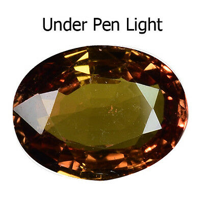1.37 Ct Attractive Color Change Yellowish Green Natural Certified Sapphire