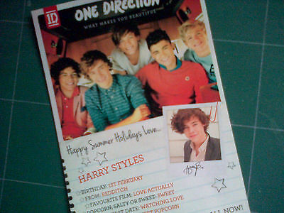 One Direction What Makes You Beautiful 1D Harry Styles RARE! Print!
