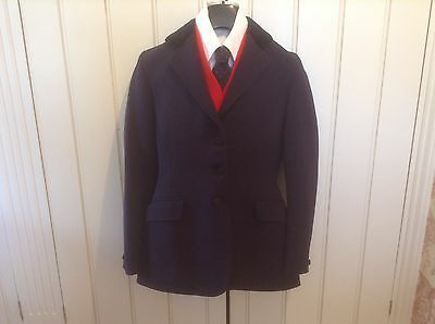Junior Pytchley Navy Showing jacket Size 32