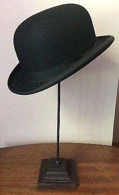 Dunn & Co Lightweight Black Long Oval Bowler Hat (Ideal Equestrian/Carriage)