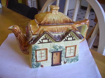 Vintage cottage ware novelty teapot  by Keele St. Pottery Staffs. from 1947.
