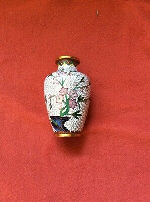Cloisonné Vase With Flowers 14 Cms