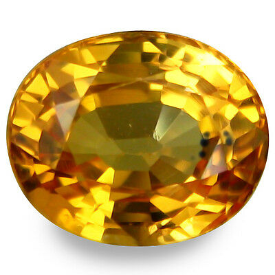 1.905Ct Super Top Luster Yellow Natural Sapphire Oval Loose Gemstones