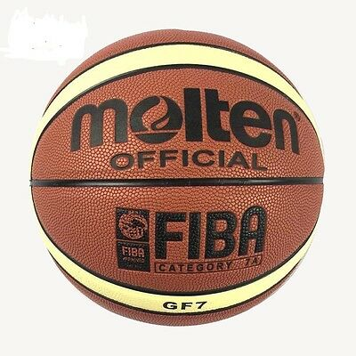 2Indoor Outdoor Basketball Training Ball Molten Size GF7 PU Leather Ball
