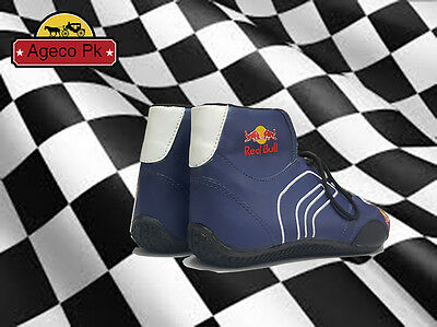 Red Bull Go Kart shoes Racing boots with free Gift Balaclava 44 Size
