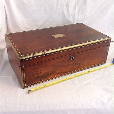 Handsome Large Victorian Deeds/ Collectors Box With Great Interior
