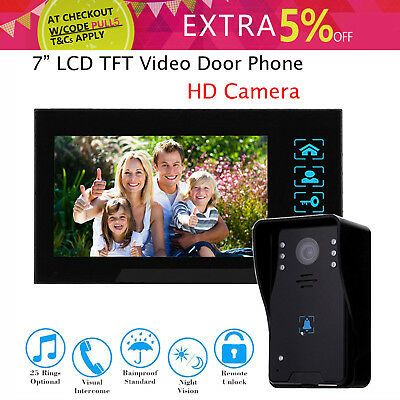 """7"""" Video Door Bell Phone Camera+Monitor for Home Office System Security Intercom"""
