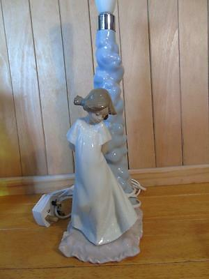 Nao by Lladro Lamp base with figure of girl FREE UK P & P