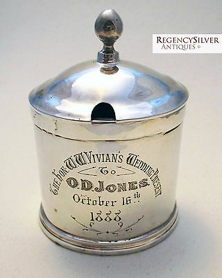 "GEORGIAN ""Wales Slate Mine"" George III Solid Silver English Antique Mustard Pot"