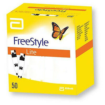 FreeStyle Lite 50 1 Pack 50 Blood Glucose Test Strips Expiry 2019