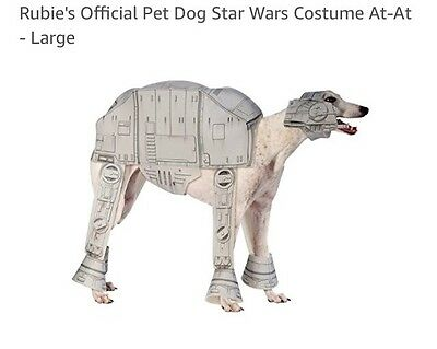 Rubie's Official Pet Dog Star Wars Costume At-At - Large Free Postage !!