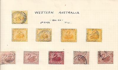 Western Aussi  1882/90  Used And Mint Antiques    Nice Lot