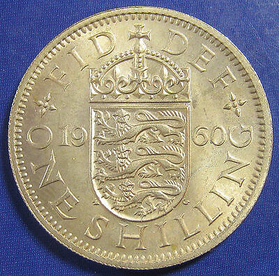 1960 1/- Elizabeth II English Shilling in an extremely high grade