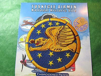 TUSKEGEE AIRMEN N H S 99th FIGHTER SQUADRON EMBROIDERED PATCH ALABAMA (136)