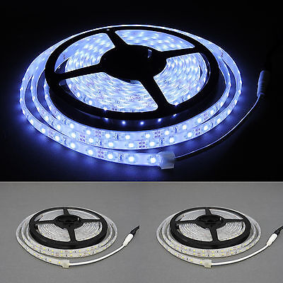 LED Strip 60 LED 2835 IP68 26Lm/Led kaltweß 12V extra dünn ( 10x4 mm )