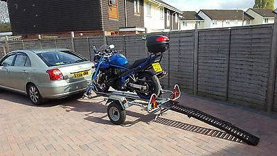 Single Motorcycle trailer hire. 19.99/day Newport, Wales