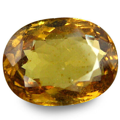 2.385Ct Prosperous Stunning Luster Yellow Natural Sapphire Oval Loose Gemstones