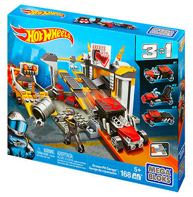 Mega Bloks Hot Wheels Car Grease Pit Garage Truck Play Set Brand New Cnf43