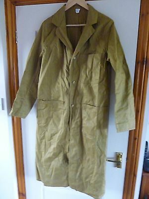 "Vintage ""Harpoon"" sanforized brown overall Shopkeepers Coat size 34"