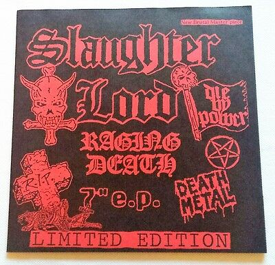 """Slaughter Lord / Morbid Tales - Rare 7"""" Raging Death Silver Vinyl Lim. to 666 C."""