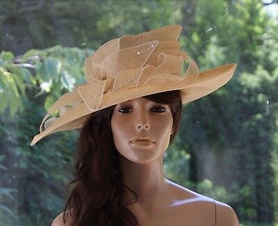 Lemon Buttermilk/Wedding/Occasion/Races/Mother of the Bride/Formal/Ascot/Hat