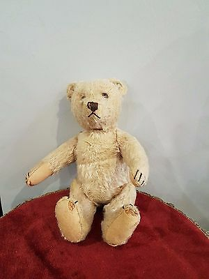 Old Antique Vintage Steiff Teddy Bear With Button Filled With Straws
