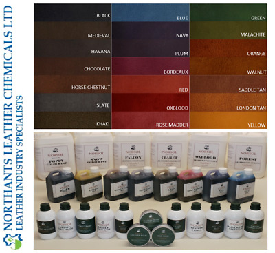NORSOL Water-based Leather Dyes, colour, stain, dye. Unisol. 100ml