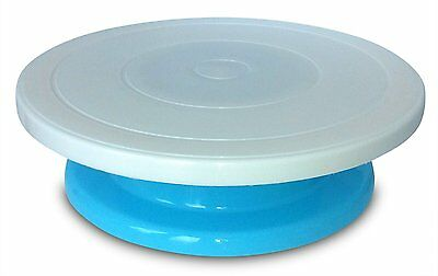 Rotating Decorating Cake Turntable, Icing and Cake Decoration (Blue)