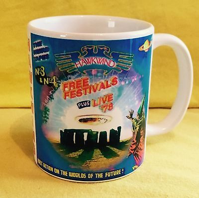 Hawkwind Weird Tapes-No.3 Free Festivals,2001- Album Cover On A Mug.
