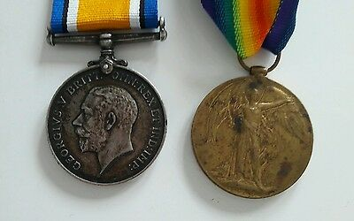 Silver WW1 war Victory Medals 4878 charles hughes royal Sussex regiment
