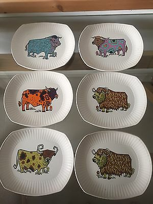 6 Beefeater Steak And Grill Set English Ironstone Pottery