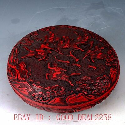 Oriental Vintage Delicate Lacquer Hand-carved Dragon Box QQ08